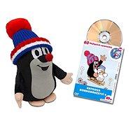 Krtek 25 cm kulich modrý trik + DVD