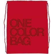 Studentský vak One Color červený