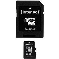 Intenso MicroSDHC 16GB Class 10 + SDHC adaptér