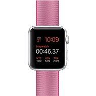 Apple Watch Sport 38mm Stříbrný hliník s růžovým řemínkem z tkaného nylonu
