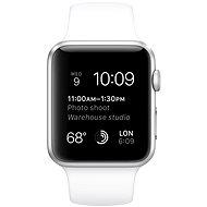 Apple Watch Sport 42mm Stříbrný hliník s bílým řemínkem