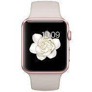 Apple Watch Sport 42mm Růžově zlatý hliník s kamenně šedým řemínkem