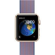 Apple Watch Sport 42mm Zlatý hliník s královsky modrým řemínkem z tkaného nylonu