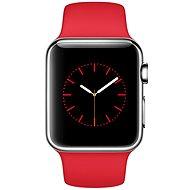 Apple Watch 38mm Nerez ocel s červeným řemínkem