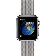 Apple Watch 38mm Nerez ocel s perlově šedým řemínkem z tkaného nylonu