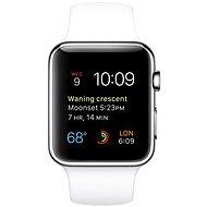 Apple Watch 42mm Nerez ocel s bílým řemínkem