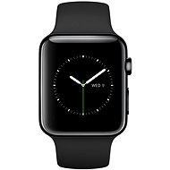 Apple Watch 42mm Vesmírně černá nerez ocel s černým řemínkem