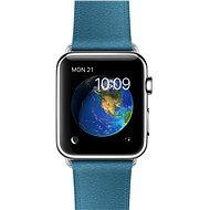 Apple Watch 42mm Nerez ocel s námořně modrým řemínkem s klasickou přezkou