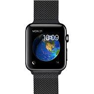Apple Watch 42mm Vesmírně černá nerez ocel s černým milánským tahem