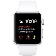 Apple Watch Series 1 38mm Stříbrný hliník s bílým sportovním řemínkem