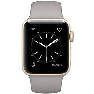 Apple Watch Series 1 38mm Zlatý hliník s cementově šedým sportovním řemínkem