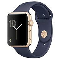 Apple Watch Series 1 38mm Zlatý hliník s půlnočně modrým sportovním řemínkem