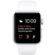 Apple Watch Series 1 42mm Stříbrný hliník s bílým sportovním řemínkem