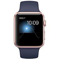 Apple Watch Series 1 42mm Růžově zlatý hliník s půlnočně modrým sportovním řemínkem