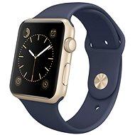 Apple Watch Series 1 42mm Zlatý hliník s půlnočně modrým sportovním řemínkem