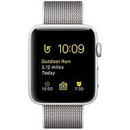 Apple Watch Series 2 38mm Stříbrný hliník s perlově šedým řemínkem z tkaného nylonu