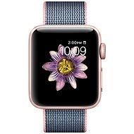 Apple Watch Series 2 38mm Růžově zlatý hliník se světle růžovým / půlnočně modrým řemínkem z tkaného