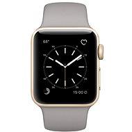 Apple Watch Series 2 38mm Zlatý hliník s cementově šedým sportovním řemínkem
