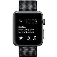 Apple Watch Series 2 38mm Vesmírně šedý hliník s černým řemínkem z tkaného nylonu