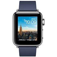 Apple Watch Series 2 38mm Nerezová ocel s půlnočně modrým řemínkem s moderní přezkou - malým