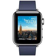 Apple Watch Series 2 38mm Nerezová ocel s půlnočně modrým řemínkem s moderní přezkou - velkým