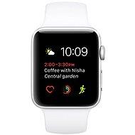 Apple Watch Series 2 42mm Stříbrný hliník s bílým sportovním páskem