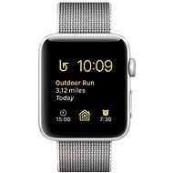 Apple Watch Series 2 42mm Stříbrný hliník s perlově šedým řemínkem z tkaného nylonu