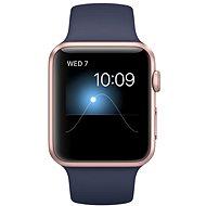 Apple Watch Series 2 42mm Růžově zlatý hliník s půlnočně modrým sportovním řemínkem