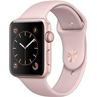 Apple Watch Series 2 42mm Růžově zlatý hliník s pískově růžovým sportovním řemínkem