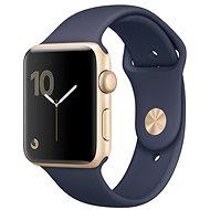 Apple Watch Series 2 42mm Zlatý hliník s půlnočně modrým sportovním řemínkem
