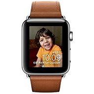 Apple Watch Series 2 42mm Nerez ocel se sedlově hnědým řemínkem s klasickou přezkou