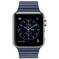 Apple Watch Series 2 42mm Nerez ocel s půlnočně modrým koženým řemínkem - středním