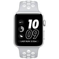 Apple Watch Nike+ 38mm Stříbrný hliník s matně stříbrným / bílým sportovním řemínkem Nike