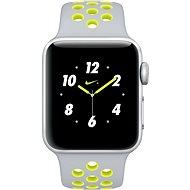 Apple Watch Nike+ 38mm Stříbrný hliník s matně stříbrným / Volt sportovním řemínkem Nike