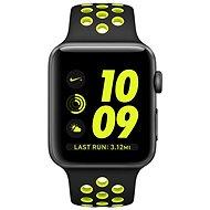 Apple Watch Nike+ 38mm Vesmírně šedý hliník s černým / Volt sportovním řemínkem Nike