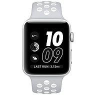 Apple Watch Series 2 Nike+ 42mm Stříbrný hliník s matně stříbrným / bílým sportovním řemínkem Nike