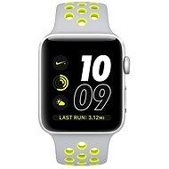 Apple Watch Series 2 Nike+ 42mm Stříbrný hliník s matně stříbrným / Volt sportovním řemínkem Nike