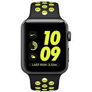 Apple Watch Nike+ 42mm Vesmírně šedý hliník s černým / Volt sportovním řemínkem Nike