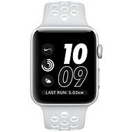Apple Watch Series 2 Nike+ 42mm Stříbrný hliník s platinově bílým sportovním řemínkem Nike