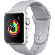 Apple Watch Series 3 38mm GPS Stříbrný hliník s mlhově šedým sportovním řemínkem