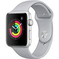 Apple Watch Series 3 42mm GPS Stříbrný hliník s mlhově šedým sportovním řemínkem