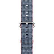 Apple 38mm Světle růžový/ půlnočně modrý z tkaného nylonu