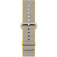 Apple 38mm Žlutý/ světle šedý z tkaného nylonu