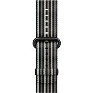 Apple 38mm Černý z tkaného nylonu (proužky)