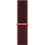 Apple Sport Nike 42mm Zářivě karmínový/černý provlékací