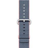 Apple 42mm Světle růžový/ půlnočně modrý z tkaného nylonu