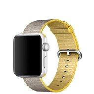 Apple 42mm Žlutý/ světle šedý z tkaného nylonu