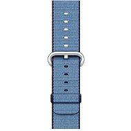 Apple 42mm Navy modrý/ azurový z tkaného nylonu