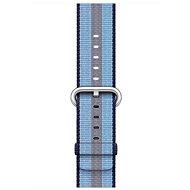 Apple 42mm Půlnočně modrý z tkaného nylonu (proužky)