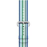 Apple 42mm Modrý z tkaného nylonu (proužky)